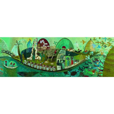 Djeco-07614 Jigsaw Puzzle - 350 Pieces - Gallery : Poetic Boat