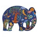 Puzzle  Djeco-07652 Puzz'Art - Elephant