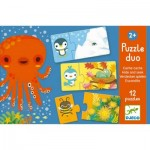 Djeco-08156 Duo Puzzle - Hide and Seek