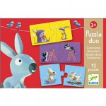 Djeco-08162 12 Puzzles - Duo of Opposites