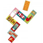Djeco-08165 Domino Jigsaw Puzzle - Animals
