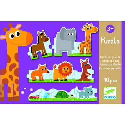 Djeco-08167 Jigsaw Puzzle - 10 Pieces - Little and Big