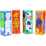 Djeco-08208 Cube Jigsaw Puzzle - Funny animals