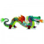 Djeco-DJ-07170 Giant Puzzle: Leon the dragon