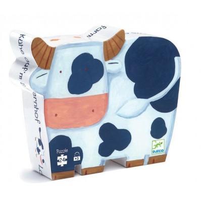 Puzzle Djeco-DJ-07205 Silhouette Box - The Cows at the farm