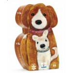 Puzzle  Djeco-DJ-07261 Silhouette Box -mummy Dog and her baby