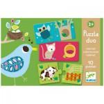 Djeco-DJ-08164 Puzzle Duo - Geraldine Cosneau: Habitat