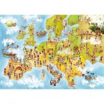 Puzzle  Deico-Games-76120 Cartoon Collection - Map of Europe