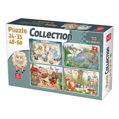 Deico-Games-76526 4 Puzzles - Animals