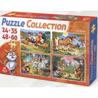 Deico-Games-76571 4 Puzzles - Animals