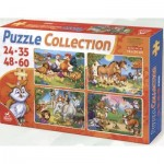 Deico-Games-76571 4 Puzzles - Animals