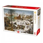 Puzzle  Deico-Games-76649 Breughel the Elder - The numbering at Bethlehem