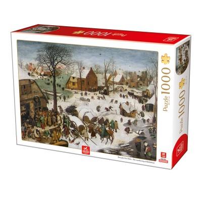 Puzzle Deico-Games-76649 Breughel the Elder - The numbering at Bethlehem