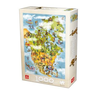 Puzzle Deico-Games-76779 Cartoon Collection - USA