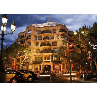 DToys-50328-AB32 Jigsaw Puzzle - 500 Pieces - Landscapes : Casa Mila, Barcelona, Spain