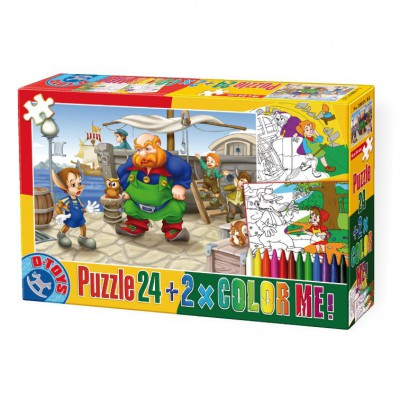 Puzzle Dtoys-50380-PC-05 Color Me : Pinocchio + 2 drawings to color