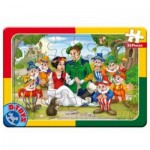 Dtoys-50564-PV09 Frame Jigsaw Puzzle - Snow White and the 7 Dwarfs