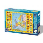 Puzzle  Dtoys-50663-MP-02 European Map with Flags
