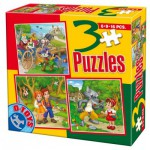 Puzzle  Dtoys-50922-BS-06 Tales and Legends: Hansel and Gretel, the Chat Botté, Little Red Cap