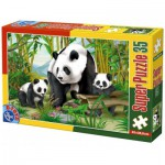 Puzzle  Dtoys-60198-AN-04 XXL pieces -Pandas