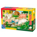 Puzzle  Dtoys-60211-AN-02 Farm Animals: pigs, sheep and rabbits