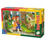 Puzzle  Dtoys-60372-PV-01 XXL pieces -Hansel and Gretel