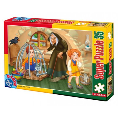 Puzzle Dtoys-60389-PV-02 XXL pieces -Hansel and Gretel