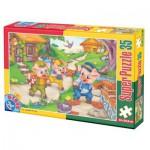 Puzzle  Dtoys-60389-PV-04 XXL pieces -The 3 Little Pigs