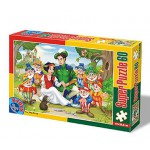 Puzzle  Dtoys-60396-PV-02 XXL pieces -Snow White and the 7 Dwarves