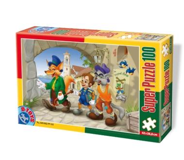 Puzzle Dtoys-60402-PV-01 XXL pieces -Pinocchio