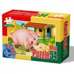 Dtoys-60464-AD-04 Mini Puzzle: Pig
