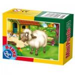 Dtoys-60464-AD-07 Mini Puzzle: Sheep