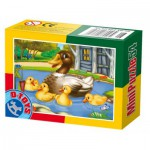 Dtoys-60464-AD-08 Mini Puzzle: Duck and ducklings