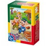 Dtoys-60471-PV-06 Mini Puzzle: The 3 Little Pigs