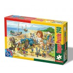 Puzzle  Dtoys-60488-PV-01 XXL pieces -Gulliver and the Lilliputians