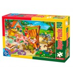 Puzzle  Dtoys-60488-PV-05 XXL pieces -The 3 Little Pigs