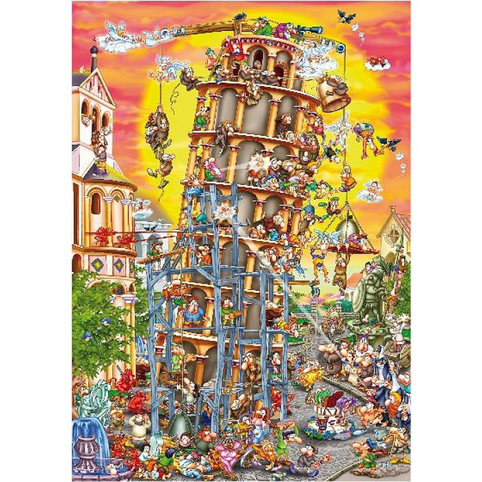Jigsaw Puzzle - 1000 Pieces - Cartoon Collection : Pisa Tower