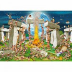 DToys-61218-CC02 Jigsaw Puzzle - 1000 Pieces - Cartoon Collection : Stonehenge