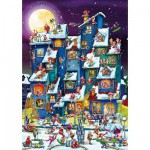 DToys-61218-CC07-(70869) Jigsaw Puzzle - 1000 Pieces - Cartoon Collection : Christmas Mess