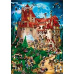 DToys-61218-CC08-(70852) Jigsaw Puzzle - 1000 Pieces - Cartoon Collection : Vampire Party