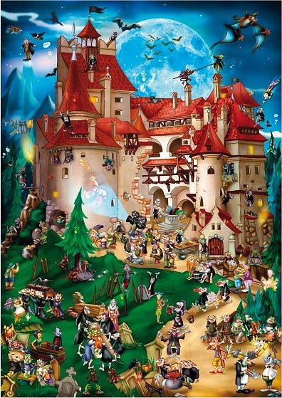 DToys-61218-CC08 Jigsaw Puzzle - 1000 Pieces - Cartoon Collection : Vampire Party