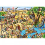 DToys-61218-CC09 Jigsaw Puzzle - 1000 Pieces - Cartoon Collection : Crossing the Desert