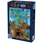 Puzzle  Dtoys-61218-CC13 Cartoon Collection - New York