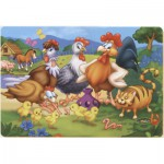 Puzzle  Dtoys-61430-AN-04 Hens and chicks in the farmyard