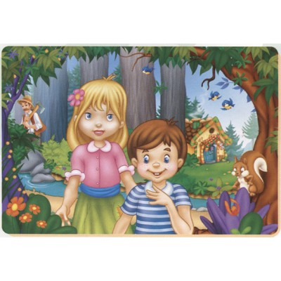 Puzzle Dtoys-61430-BA-02 Tales and Legends: Hansel and Gretel