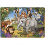 Puzzle  Dtoys-61454-AN-03 Color Me: The party of the jungle animals