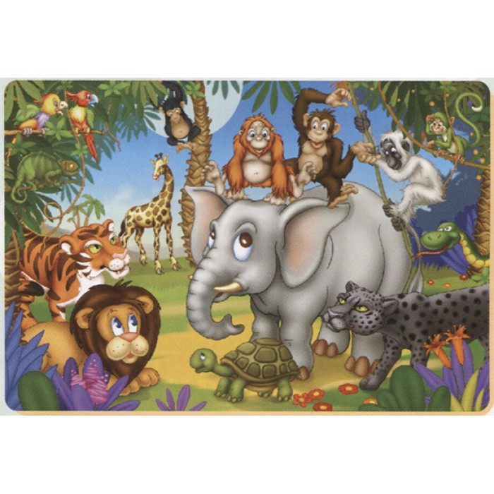 Color Me: The party of the jungle animals
