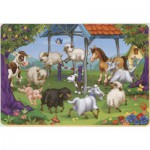 Puzzle  Dtoys-61454-AN-04 Color Me: the round of the farm animals