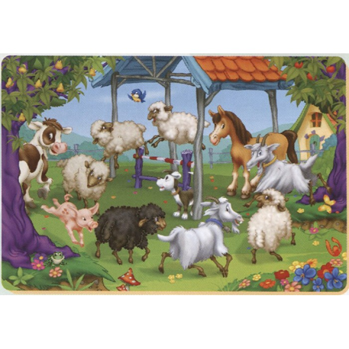 Color Me: the round of the farm animals