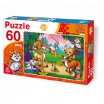 Puzzle  Dtoys-61478-AN-04 The animals of the forest